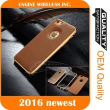 mobile phone shell leather pu case for iphone 5s 4s 6, for iphone case