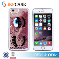 Big Eyes Case For iPhone 6 6Plus 5 5S Dynamic Liquid Glitter Sand Quicksand Star Case Eyelash Clear Cover