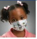 Respiratory Aids - Kimberly-Clark Child's Face Mask With Ear Loops, Mickey & Stars