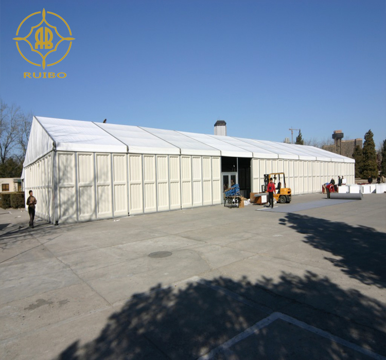 2018 Ruibo latest Canton Fair Event Tent With ABS Hard Wall