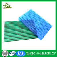 uv coated cheap corrugated impact resistance waterproof triple wall hollow polycarbonate