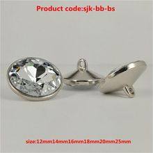 Most popular excellent quality crystal sofa upholstery buttons accept paypal