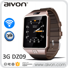 Android 4.4 Smart Watch DZ09 QW09 3G WiFi Watch Phone MTK6572 Dual Core Wifi GPS 2.0MP Camera Bluetooth