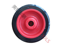3 inch red color tpr tire small plastic wheel for cart trolley