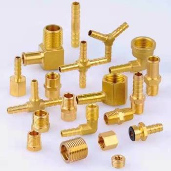 Hydraulic Equal Cross Type  Brass pipe compression  Fitting