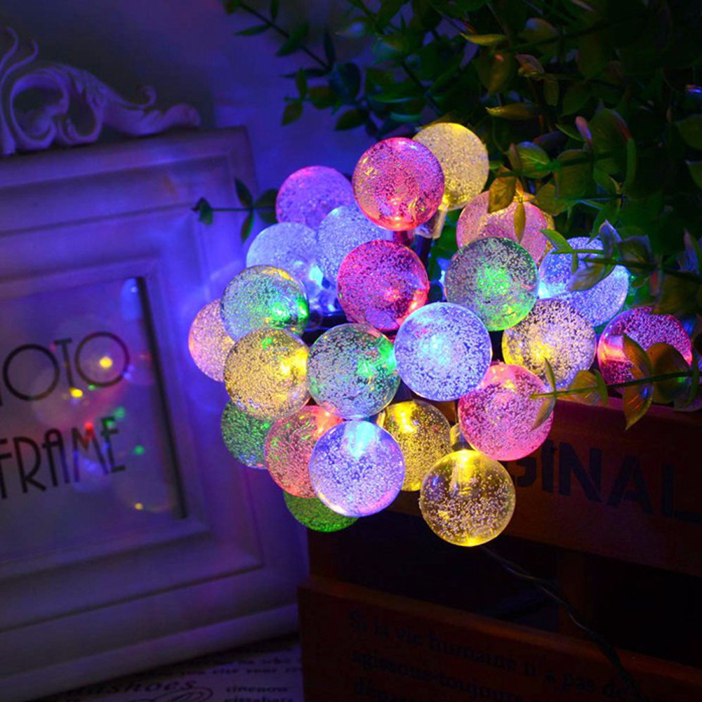 DM 634 Wholesale waterproof solar energy LED holiday decoration party patio ball fairy light