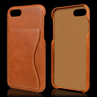 Genuine Premium Head Layer Cowhide Leather Wallet Case for Iphone 7 For Iphone 7 Case Cell Phone Case with Card Slot