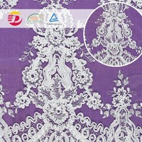 Factory wholesale Nylon Trim 3D Embroidered Guipure Lace Fabric for Beautiful Dress