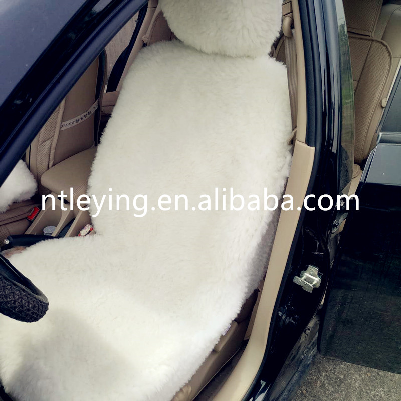 100% synthetic faux sheepskin fur motohome car seat cover LYCS001