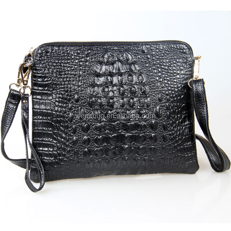 2016 New Arrival Genuine Leather Alligator Women Messneger Bag Clutch Bag
