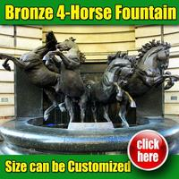 Horse Fountain,Outdoor Horse Water Fountain with Horses (customized service is available)