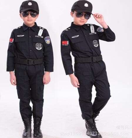 Childrens halloween 100 160 cm gift disfrace boys kid cop police qq20171130164434 solutioingenieria Gallery
