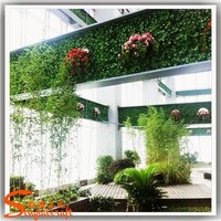 Chinese supplier artificial carpet grass price hanging vertical synthetic green plants wall for decoration for sale prices turf