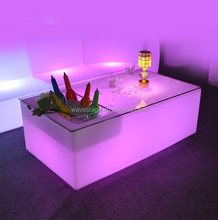 led light bar table with ice bucket plastic square