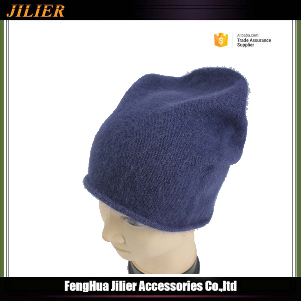 Wholesale China Casual Warm Winter Men Women Beanie Hat Blue Cap Knitted Hat