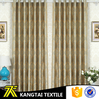 Kangtai Textile yarn dyed floral pattern living room new jacquard curtain