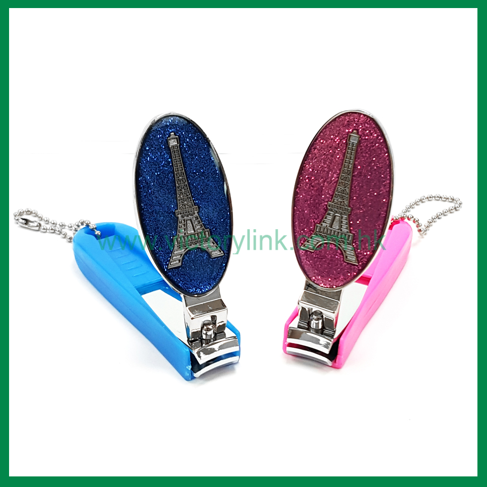 Glitter Color Eiffel Tower Zinc Alloy Finger Nail Clipper
