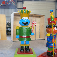 Newly Products Fiberglass Life Size Nutcracker Statue