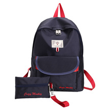 2017 new canvas korean <strong>school</strong> backpack bag for girls teenagers backpack bag <strong>school</strong>