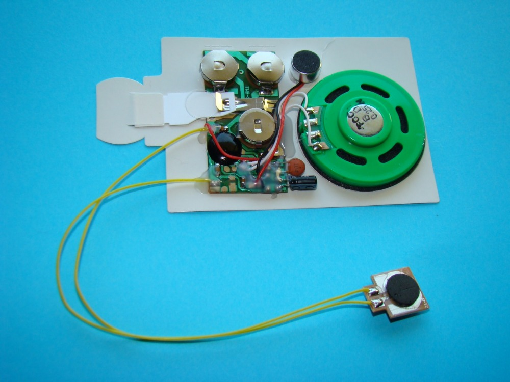 60sec blank recordable sound chip for greeting cards