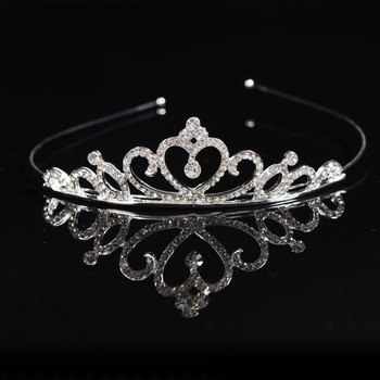 Silver Diamonds Kids and Girls Wedding Prom Crown Tiaras