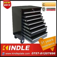 Kindle 2013 heavy duty hard wearing tool cabinet with three layers