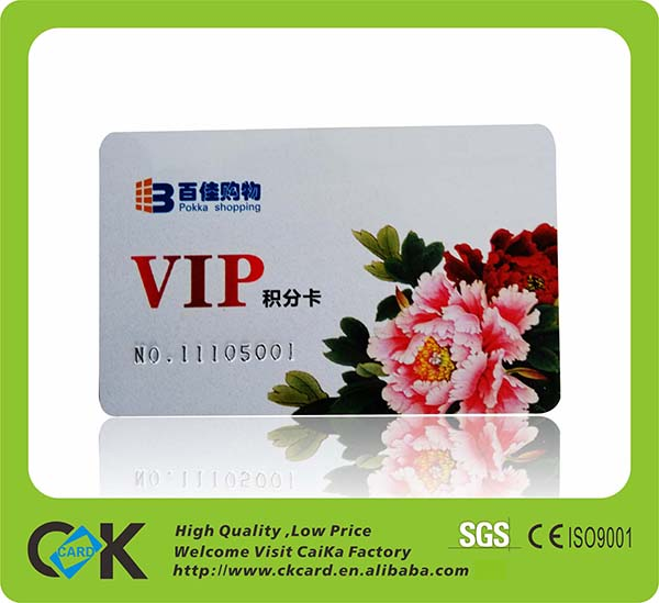 CR80 debit card size PVC cards printing with embossed number