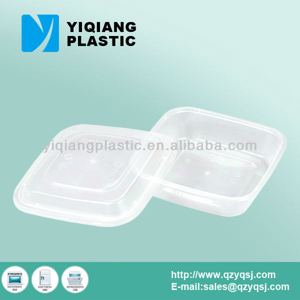 Small square thermal food containers