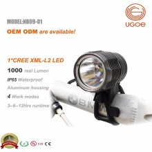 Ugoe 1000 lumens Easy mount and release led bike light MTB light