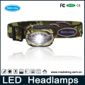 Adjustable Headlight 4 Modes 1Red LED+3 White LED Light Waterproof Head light Led Headlamp with 3pcs AAA Batteries