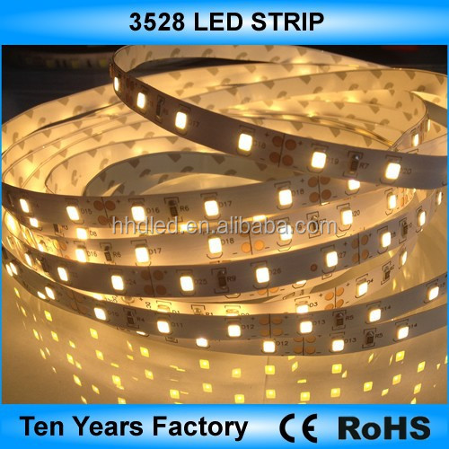 Hot sale 12v waterproof 3528 2400k warm white led strip lighting