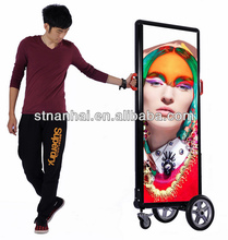J2B-166 New media human backpack mobile advertising outdoor street billboard with high brightness