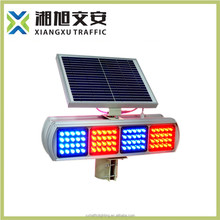 Environmental Bule/red solar traffic blinker