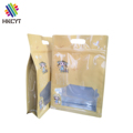 Recycle Flat Bottom Aluminum Foil Dried Food Packaging Ziplock Pouch Bag with Window