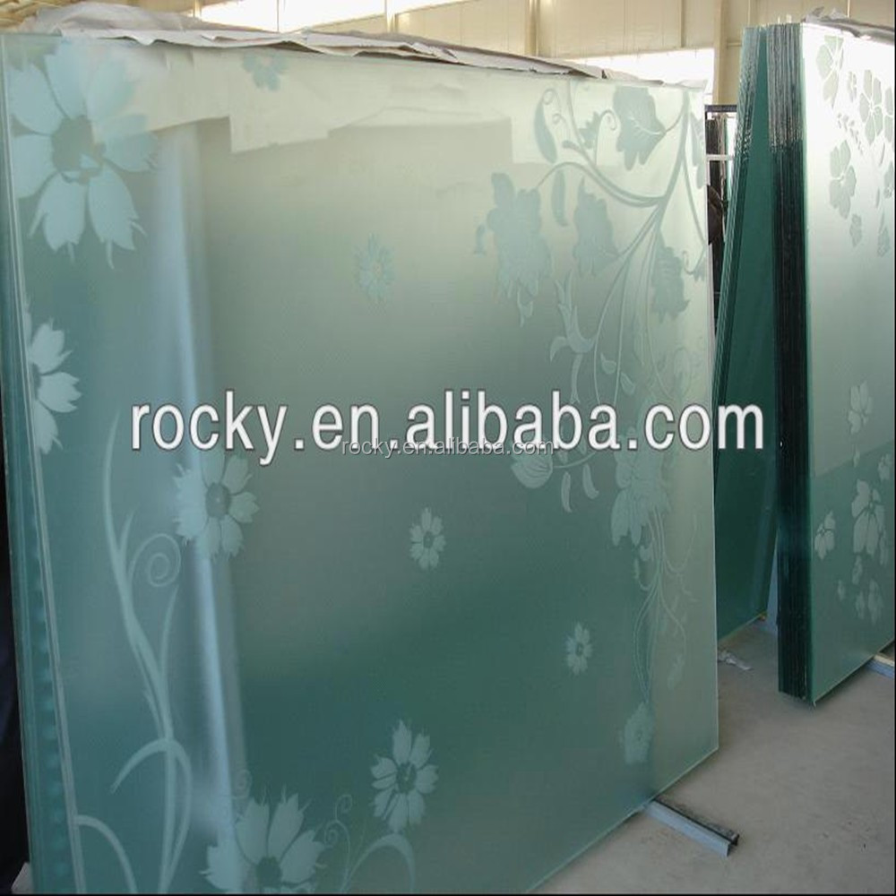 Qingdao Rocky high quality 4mm 5mm 6mm 8mm 10mm 12mm frosted glass office partitions
