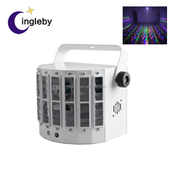 New product butterfly effect colorful led spot light 2 in 1 laser gobo projector