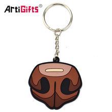 Promotional gifts Custom made 3d soft pvc rubber key chain