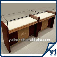 High quality store display Wooden Glass Jewelry showcase