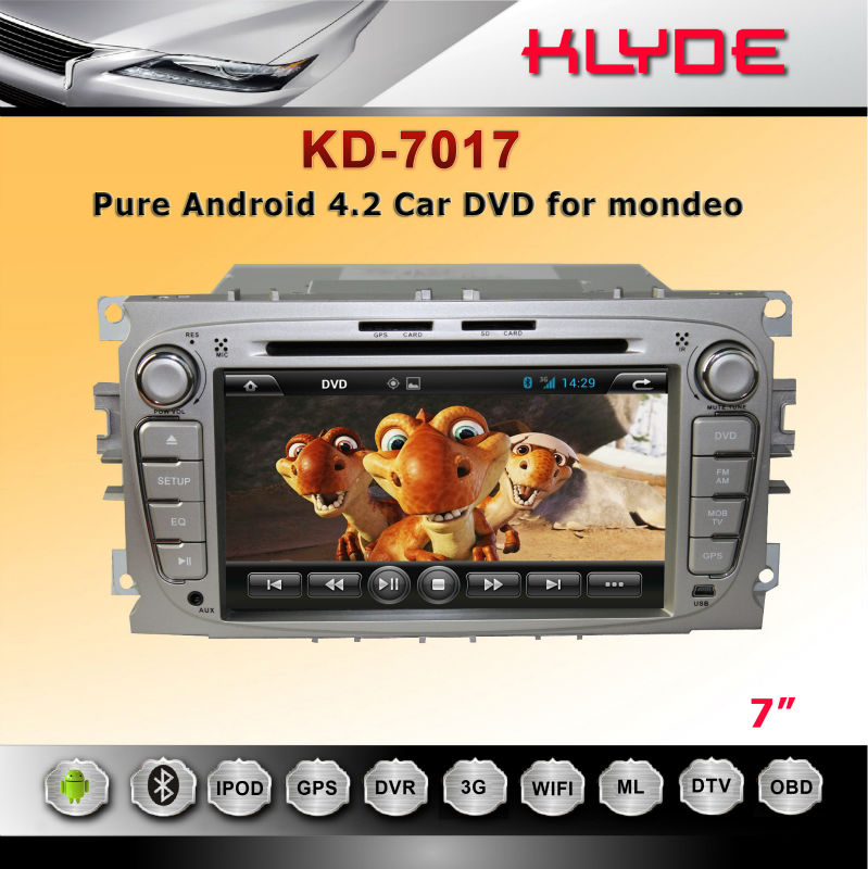 "CE Rohs FCC TV For mondeo 2 Din 8"" Car Dvd Player"