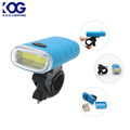 Plastic Super Bright Novelty Safety Mountain Bike Headlight COB LED Bike Front Light