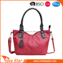 Newest design cheap PU lady handbag