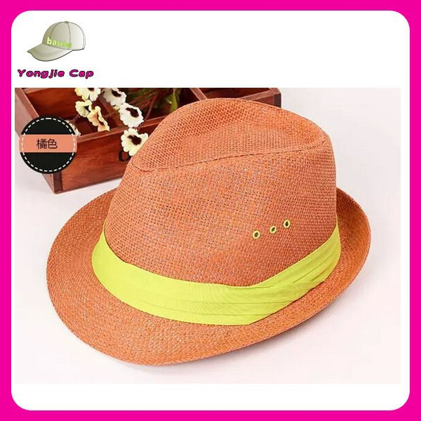 Manufacture bulk sale factory paper straw wholesale fedora hat ribbons