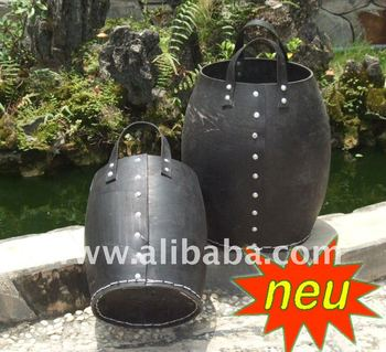 Rubber Recycle tire buckets, Eco friendly with enviroment, New design 2013, new lines