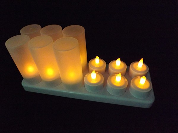 2016 cheap decorative rechargeable /flameless birthday candel/led tealight candle /pillar candle light