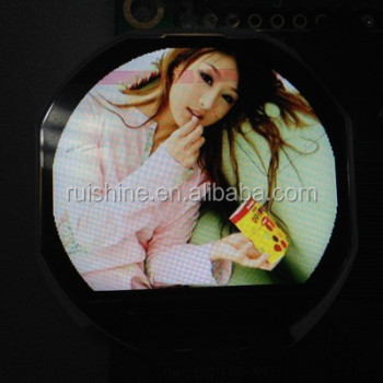 "1.2"" inch small circular TFT screen for smart watch display"