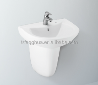 FH282F Washbasin With Half Pedestal Sanitary Ware Ceramic Bathroom Design