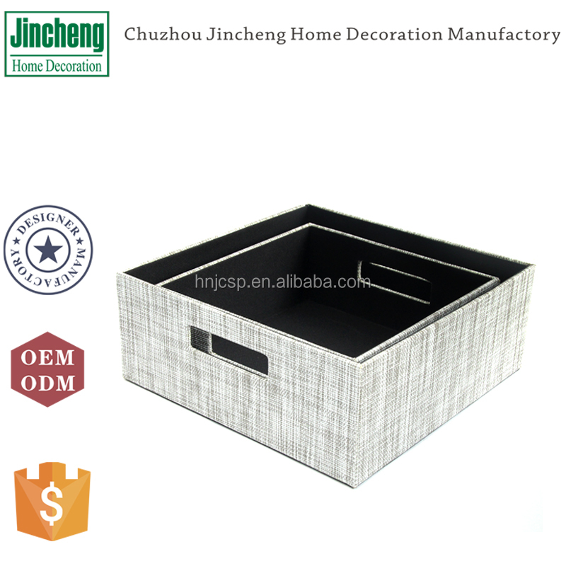 Home Storage White And Grey Color Decorative CD DVD Storage box