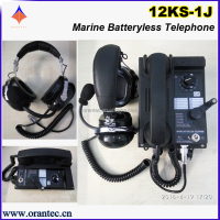 12KS-1J Type Noise-proof 12 way Marine Batteryless Sound Power Telephone with Headset