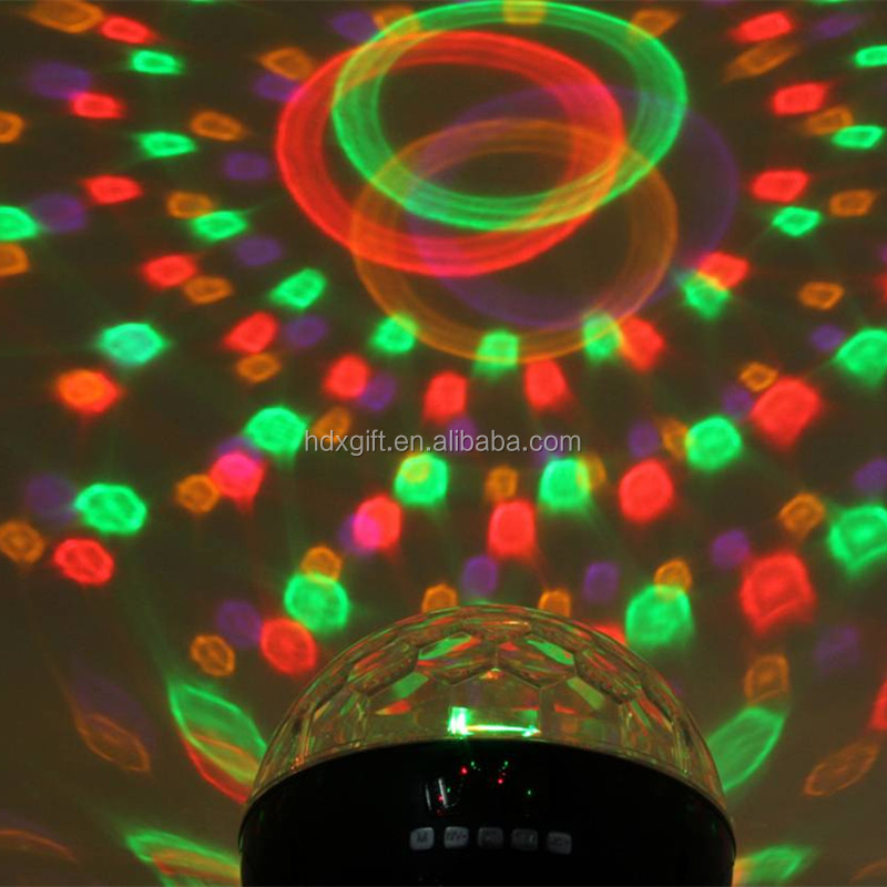 6W LED Disco Ball Crystal Bluetooth Speaker/FM Radio/TF Card