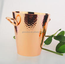 pink golden 7 inch ice bucket, stainless steel ice bucket